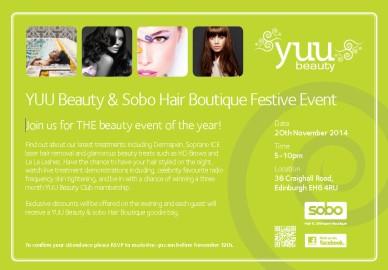 YUU Beauty & Sobo Edinburgh Festive Event (1)