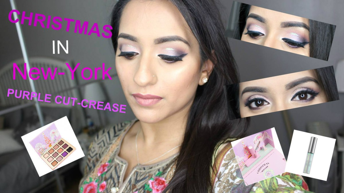 GET READY WITH ME | Christmas In New-York | PURPLE Cut-crease Glitter